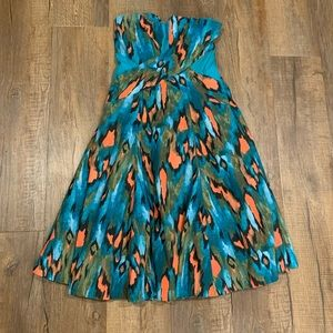Anthropologie Girls From Savoy Ikat Dress